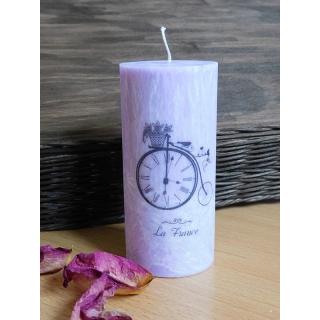 Svíčka La France lila