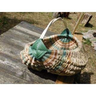 Rámový košík s pevnou vazbou na nákupy i do lesa na houby