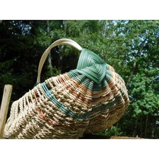 Farmářský košík Magdaly - zelený