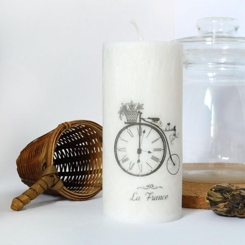 Svíčka z palmového vosku La France bílá