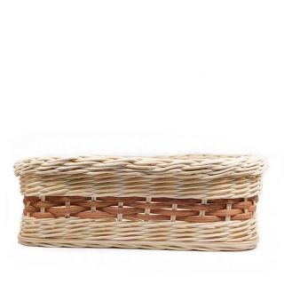 Proutěný košíček Harmony - čtvercový - s hnědým výpletem