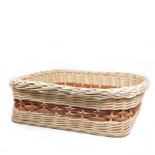 Nízký poutěný košíček Harmony - čtvercový