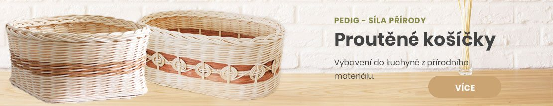 Proutěné košíčky - vybavení do kuchyně z přírodního materiálu